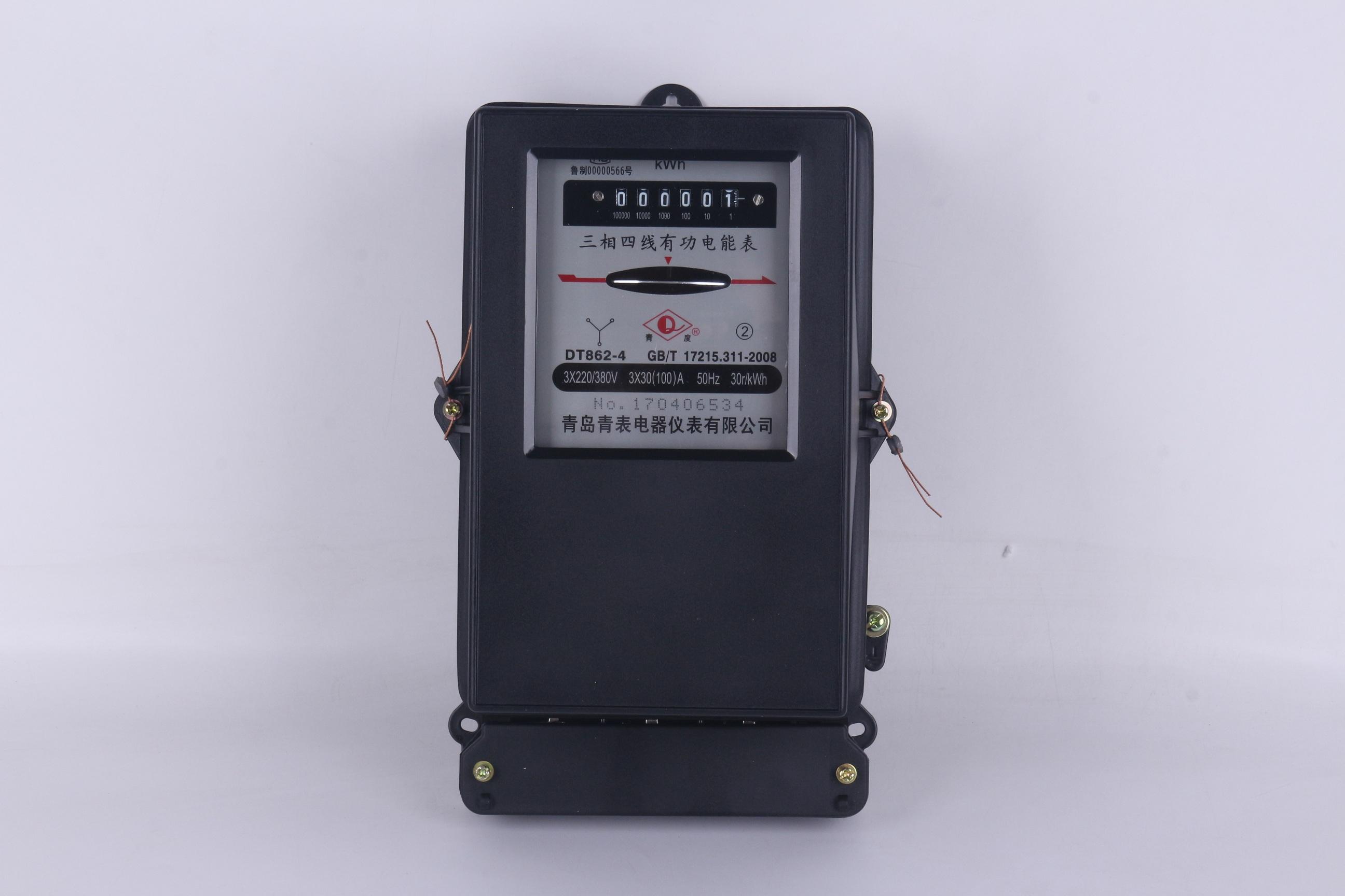 三相四线有功机械电度表DT862-4